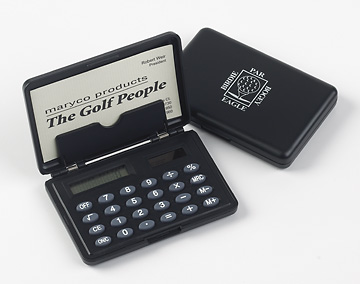 GOLF CALCULATOR & CREDIT CARD HOLDER